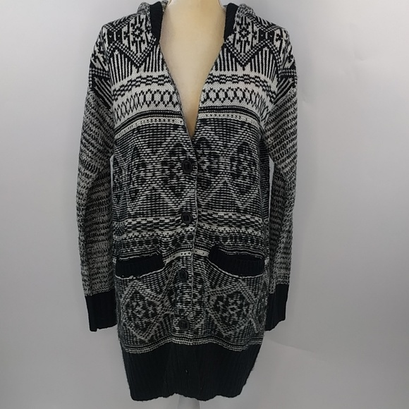 Miss Me Sweaters - Miss Me hooded cardigan sweater medium